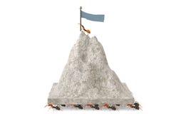 Μια ομάδα μυρμηγκιών που κινούν το βουνό τρισδιάστατη απεικόνιση στοκ εικόνες