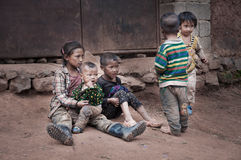 Μια ομάδα παιχνιδιού παιδιών Στοκ Εικόνες