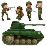Μια ομάδα στρατιωτών Στοκ εικόνες με δικαίωμα ελεύθερης χρήσης
