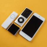 Μια ομάδα Apple iPods Στοκ φωτογραφίες με δικαίωμα ελεύθερης χρήσης