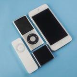 Μια ομάδα Apple iPods Στοκ εικόνες με δικαίωμα ελεύθερης χρήσης