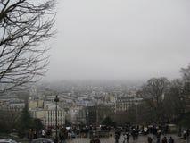 Μια ομιχλώδης άποψη από sacré-CÅ «ur, Παρίσι στοκ φωτογραφίες