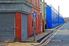 Μια οδός επιβιβασμένος επάνω στα εγκαταλελειμμένα σπίτια στο Λίβερπουλ UK Στοκ φωτογραφίες με δικαίωμα ελεύθερης χρήσης