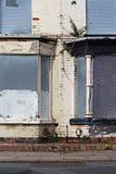Μια οδός επιβιβασμένος επάνω στα εγκαταλελειμμένα σπίτια Στοκ Εικόνες