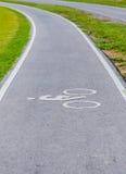 Μια πάροδος ποδηλάτων για τον ποδηλάτη Στοκ Εικόνα