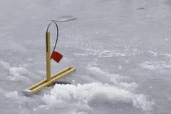 Μια παγίδα πάγου στον πάγο Στοκ φωτογραφίες με δικαίωμα ελεύθερης χρήσης