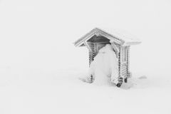Μια παγωμένη καλύβα Στοκ εικόνα με δικαίωμα ελεύθερης χρήσης
