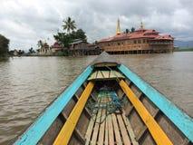 Μια παγόδα στη λίμνη Inle (Βιρμανία) Στοκ Φωτογραφία