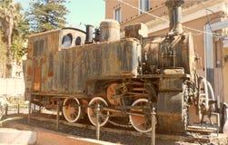 Μια παλαιά ατμομηχανή ατμού στην Κατάνια στοκ εικόνες