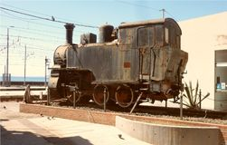 Μια παλαιά ατμομηχανή ατμού στην Κατάνια στοκ εικόνα