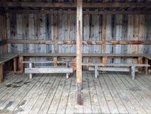 Μια παλαιά σπιτική σκούπα σε ένα campaite στοκ εικόνα με δικαίωμα ελεύθερης χρήσης