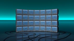 Μια παλαιά TV με το στατικό θόρυβο Στοκ Εικόνα