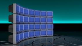 Μια παλαιά TV με το στατικό θόρυβο Στοκ εικόνα με δικαίωμα ελεύθερης χρήσης