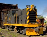 Μια παλαιά ατμομηχανή diesel στην επίδειξη Στοκ Εικόνα