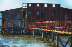 Μια παλαιά εγκαταλειμμένη σοφίτα δικτύου Στοκ Εικόνα