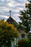 Μια παλαιά Ορθόδοξη Εκκλησία στην πόλη Medyn, περιοχή Kaluga (Ρωσία) Στοκ Φωτογραφίες