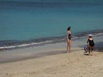 Μια παλιή παραλία στα προσήνεμα νησιά απόθεμα βίντεο