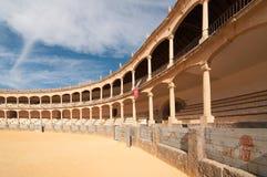 Μια πλευρά της αρένας ταυρομαχίας Plaza de Toros, Ronda, Ισπανία Στοκ Φωτογραφίες