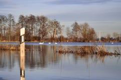 Μια πλημμυρισμένη οδός Στοκ φωτογραφίες με δικαίωμα ελεύθερης χρήσης