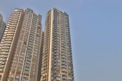 μια πολυκατοικία στο HK Κατοικία, μητρόπολη στοκ φωτογραφίες