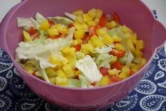 Μια πράσινη σαλάτα με την πάπρικα Στοκ Εικόνες