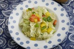 Μια πράσινη σαλάτα με την πάπρικα Στοκ Φωτογραφίες