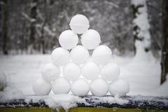 Μια πυραμίδα των χιονιών στοκ φωτογραφία με δικαίωμα ελεύθερης χρήσης