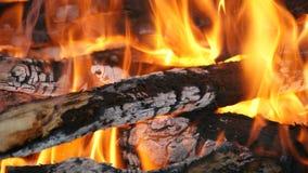 Μια πυρκαγιά βρυχηθμού Στοκ Εικόνες