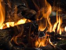 Μια πυρκαγιά 2 τουριστών Στοκ Εικόνες