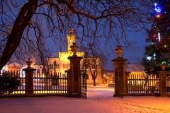 Μια πόλη στο Christmastime στοκ εικόνες