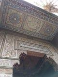 Μια πόρτα στο παλάτι Bahia, Μαρακές στοκ φωτογραφία