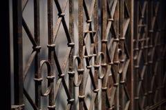 Μια πύλη μετάλλων με το εβραϊκό σύμβολο στη μέση Στοκ Εικόνα