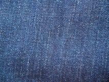 Μια πλήρης σελίδα του μπλε υλικού βαμβακιού, κινηματογράφηση σε πρώτο πλάνο υφάσματος τζιν Μακρο σύσταση φωτογραφιών των τζιν Άπο Στοκ Εικόνα