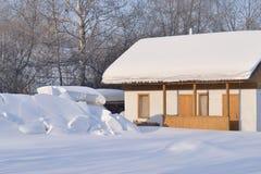 Μια πλοκή κήπων στο τέλος του χειμώνα Στοκ Φωτογραφίες