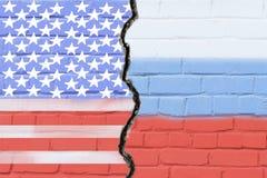 Μια ρωγμή στο μονόλιθο Ρωσία-ενωμένες κρατικές σχέσεις στοκ φωτογραφία με δικαίωμα ελεύθερης χρήσης