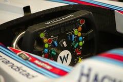 Μια ρόδα ενός ραλιού του Ουίλιαμς FW38 του δρομέα Felipe Massa στο τύπος-1 πρωτάθλημα του 2016 Στοκ Εικόνα