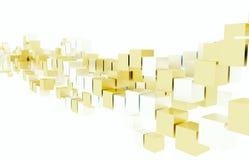 Ασημένιοι και χρυσοί κύβοι Στοκ Εικόνες