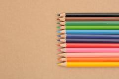 Μια σειρά του χρωματισμένου μολυβιού Στοκ Εικόνες
