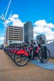 Μια σειρά των κύκλων του σαντάντερ στο ολυμπιακό πάρκο, Λονδίνο UK Στοκ φωτογραφίες με δικαίωμα ελεύθερης χρήσης