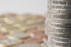 Μια σειρά των νομισμάτων Στοκ φωτογραφίες με δικαίωμα ελεύθερης χρήσης