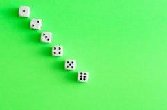 Μια σειρά χωρίζει σε τετράγωνα από 1 έως 6 Στοκ φωτογραφία με δικαίωμα ελεύθερης χρήσης