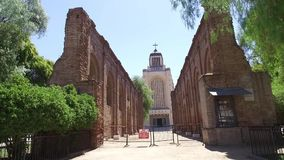 Μια σεισμός εκκλησία στη Χιλή απόθεμα βίντεο