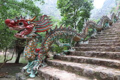 Μια σκάλα δράκων, επαρχία Ninh Binh, βόρειο Βιετνάμ Στοκ Φωτογραφία