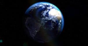 Μια σκηνή του διαστήματος με το πλανήτη Γη διανυσματική απεικόνιση