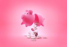 Μια σπασμένη τράπεζα Piggy Στοκ φωτογραφία με δικαίωμα ελεύθερης χρήσης