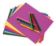 Μια στοίβα των χρωματισμένων γραμματοθηκών αρχείων Στοκ εικόνες με δικαίωμα ελεύθερης χρήσης