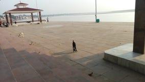 Μια συμπαθητική άποψη του ghat στο Varanasi Στοκ Φωτογραφίες