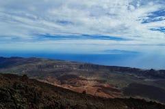 Μια συναρπαστική άποψη του Ατλαντικού Ωκεανού από το ηφαίστειο Teide Στοκ φωτογραφία με δικαίωμα ελεύθερης χρήσης