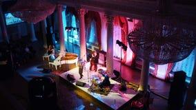 Μια συναυλία τζαζ στη αίθουσα συναυλιών στοκ φωτογραφία