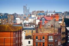 Παραδοσιακή βρετανική γειτονιά στοκ εικόνες με δικαίωμα ελεύθερης χρήσης